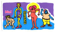 Blind - Mark Gonzales - Colored People Skateboard Sticker - skate board sk8 new