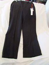 """Ladies """"ELLE"""" Size 12, Black, Mid Rise, Polyester Blend, Wide Leg, Dress Pants"""