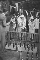 OLD PHOTO The Duchess Of York Fishing For Champagne At A Side Show