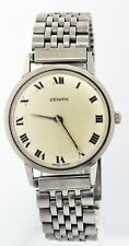 Vintage Zenith Cal 2310 34mm Stainless Steel White Dial Mechanical Watch