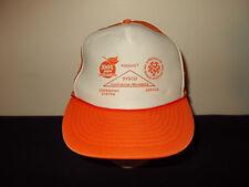 VTG-1980s 100% Pure Florida Quality Orange Juice farming ag fruit hat sku23