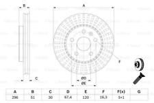 2x Bremsscheibe für Bremsanlage Vorderachse BOSCH 0 986 479 C65