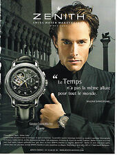 PUBLICITE ADVERTISING 094  2008  ZENITH  montre GRANDE CHRONOMASTER open VENISE