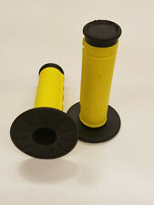 UNIVERSAL MOTORCYCLE AND  MOTORIZED BICYCLES  HAND GRIPS  YELLOW