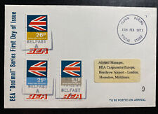 1971 England First Day Cover Fdc To Hounslow Bea Decimal Series