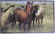 #8767 - HIGHLAND GRAPHICS WILD HORSES DECORATIVE WOOD SIGN -WOW!