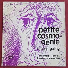ALICE GALLOY LP ORIG BEL PETITE COSMOGENIE ENSEMBLE PROPO ART COVER R. SOMVILLE