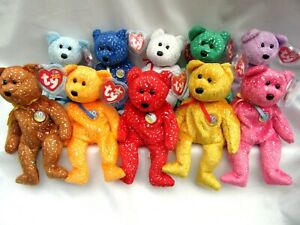 TY BEANIE BABY DECADES - ALL TEN AVAILABLE BEARS - MINT - RETIRED WITH TAGS