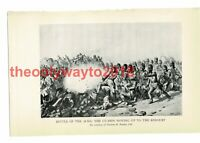 Battle of Alma, Guards Moving up to Redoubt , Book Illustration (Print), 1934