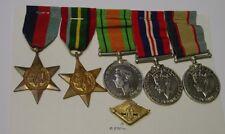 WW2 Medal group of 5. 43052 B.F. FLYNN. RAAF + Active Service badge.