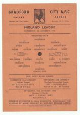 More details for bradford city reserves v kings lynn 4/1/1958 midland league