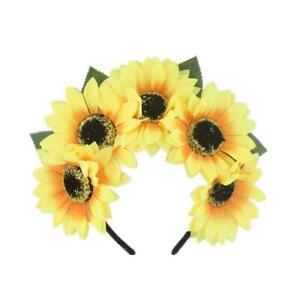 Flower Girl Sunflower Floral Flower Headband - Yellow