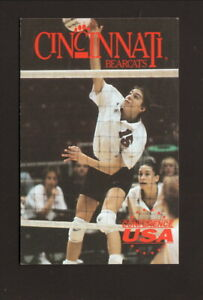 Cincinnati Bearcats--1997 Volleyball Pocket Schedule--Active Ankle