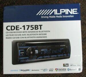 NEW ALPINE CDE-175BT AM/FM/CD/USB/BT RECEIVER BUILT IN EQ 5 VOLT PRE-OUTS NR