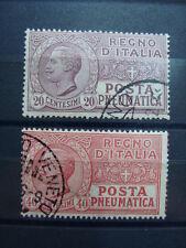 ITALIA REGNO 1925 SERIE COMPLETA POSTA PNEUMATICA N. PN8-PN9 USATA CAT. € 300