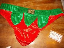 Sexy Secret Santa Santa's Helper Elf Men's Christmas Thong XL NWT