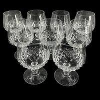 Set of 9 Cristal d'Arques Durand LONGCHAMP Brandy Snifter Cognac Crystal Stems