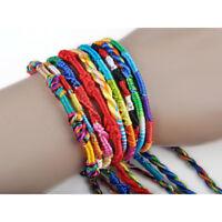 10pc Handmade Thread Woven Friendship Cords Hippie Anklet Braid Lucky Bracelet