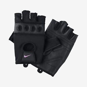 NIKE Short Finger Training Gloves Mens Women's Gym Crossfit Workout Fitness NEW