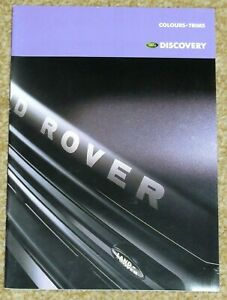1997 LAND ROVER DISCOVERY COLOURS & TRIMS GUIDE Brochure - Mint Condition