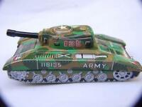 Vintage Tin Toy Tank 118135 Army  Made In Japan By HARUSAME Toys Friction 1960'S