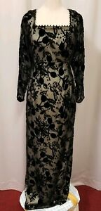"Black Joanna Mastroianni evening cocktail gown 30"" waist"