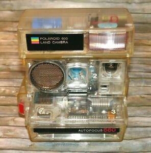 """Polaroid Autofocus 660 :""""Transparent"""" -Schhlungskamera von 1981! Rarität!"""