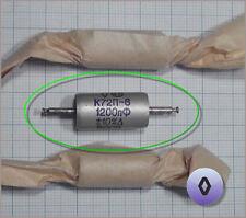 Russian Teflon Capacitor K72P-6 1200pF 1.2nF 0.0012uF 500V â—Š (Diamond) 1pc.+