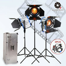 Fresnel Tungsten Spot light 1000W*3+Aluminium case+stand+3 dimmer+3 stands Kit