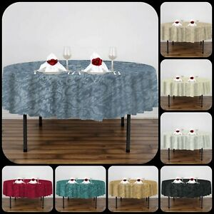 New Luxury Traditional Jacquard Round 70 in (178 CM) Dining Table Cloth Cover