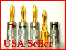 14 Nakamichi Speaker banana plug Adapter Audio connectors Top Quality USA Stock