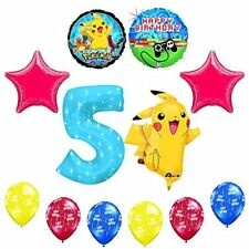 "NEW! 12 pc Pokemon Go ""You've Leveled Up"" 5th Happy Birthday Balloon Supplies"