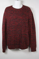 Club Room Sweater Crew Neck L Large Red Gray Black Mens New