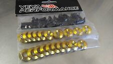 20 PCS  YP CONCAVE GOLD FENDER BOLT/WASHER DRESS UP KIT HONDA ACURA CIVIC RSX