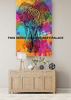 Indian Mandala Elephant Tapestry Tie Dye Wall Hanging Home Room Wall Decorative
