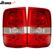 Fits 04-08 Ford F-150 Tail Lights Red Clear (LED Style)
