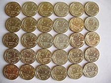 Lot de 30 pièces de 5 centimes francs année 1998