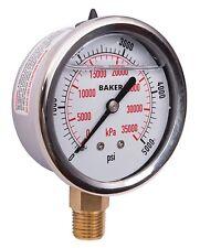 Baker AVNC-5000P Pressure Gauge, 0-5000 PSI / 0-35,000 kPa