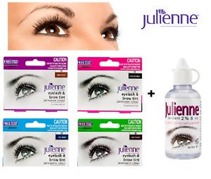 Julienne Professional Tinting Eyelash & Eyebrow Dye Tint Lash Kit - All Colours!