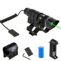 """Tactical Hunting Red/Green Dot Laser Sight Scope For 1"""" Rifle Gun Scope+Switch"""