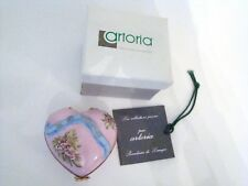 Artoria Limoges Box - Be My Valentine Pink Puffy Heart with sculpted ribbon