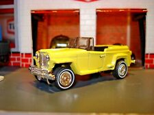 1948 WILLYS JEEPSTER CUSTOM EDITION 1/64 MB DETAILED LIGHTS AND CUSTOM WHEELS