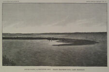 Dutch Point Grand Traverse Bay Lake Michigan 1885 Antique Engraving