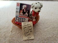 RARE VINTAGE ENESCO PUPPY CHOW CHRISTMAS 1993 HOLIDAY ORNAMENT- Fast Shipping