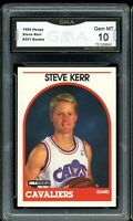 1989 Hoops #351 Steve Kerr RC Rookie Card Graded GMA 10 GEM MINT ~ PSA 10 ?
