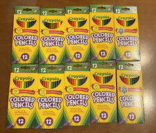 10 Box Lot Crayola Colored Pencils 12 Pack Pre Sharpened Nontoxic Bright Colors