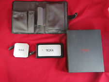 Tumi Ultra Slim Universal Power Adapter Kit Model # 14352 With Case, accessories