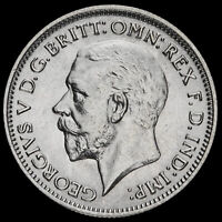 1936 George V Silver Sixpence, A/UNC
