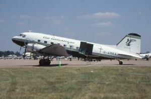35mm Aircraft Slide Air Atlantique G-AMRA Douglas DC-3 Dakota Fairford 2005