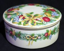 Mikasa Christmas Bouquet Covered Box - Gold Trim - UT071/683